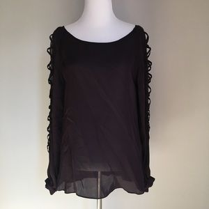 Haute Hippie Deep Purple 100% Silk Blouse